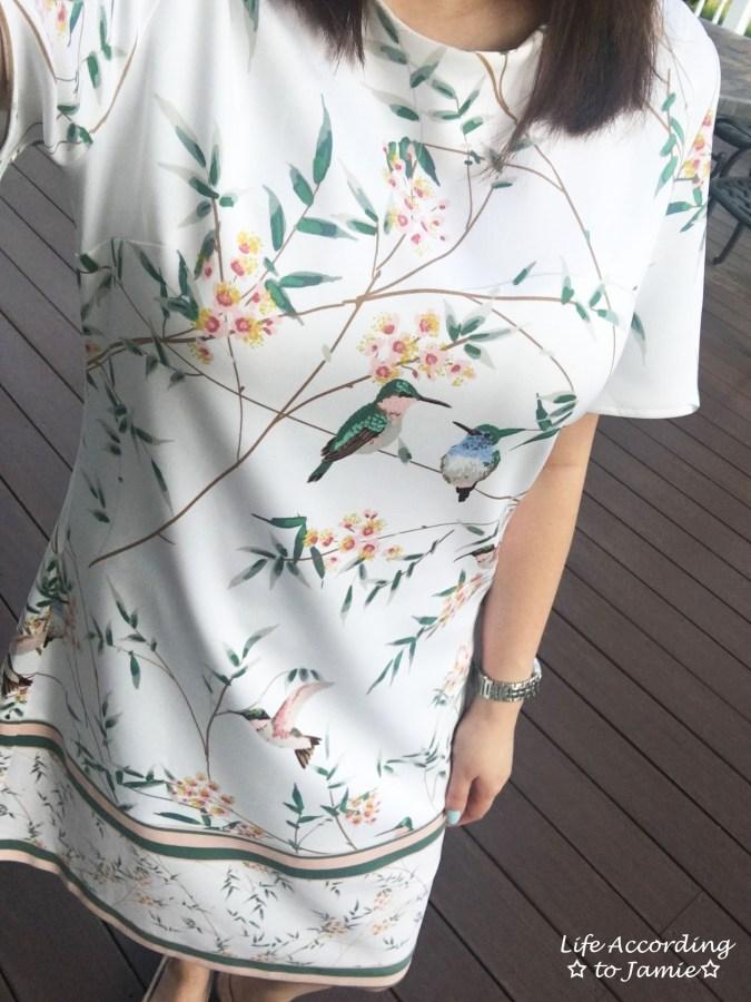 White Floral Shift Dress 5