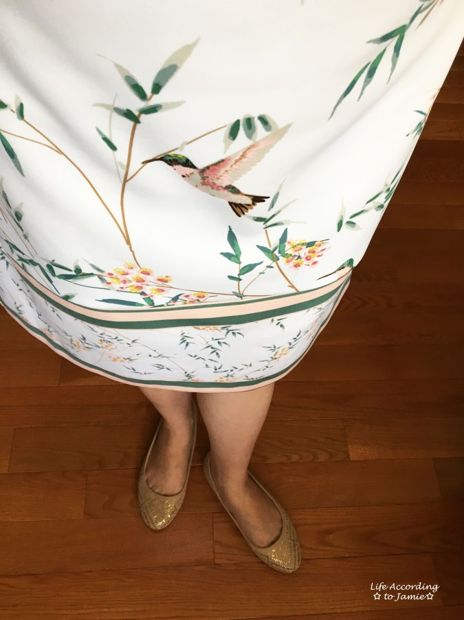 White Floral Shift Dress 6