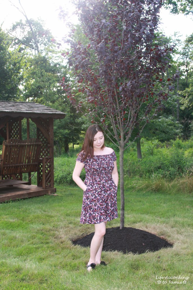 Smocked Floral OTS Dress