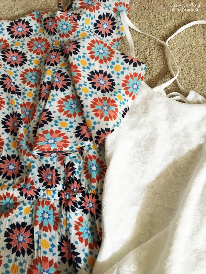 Beach Floral Flutter Back Romper + Lace Bodysuit