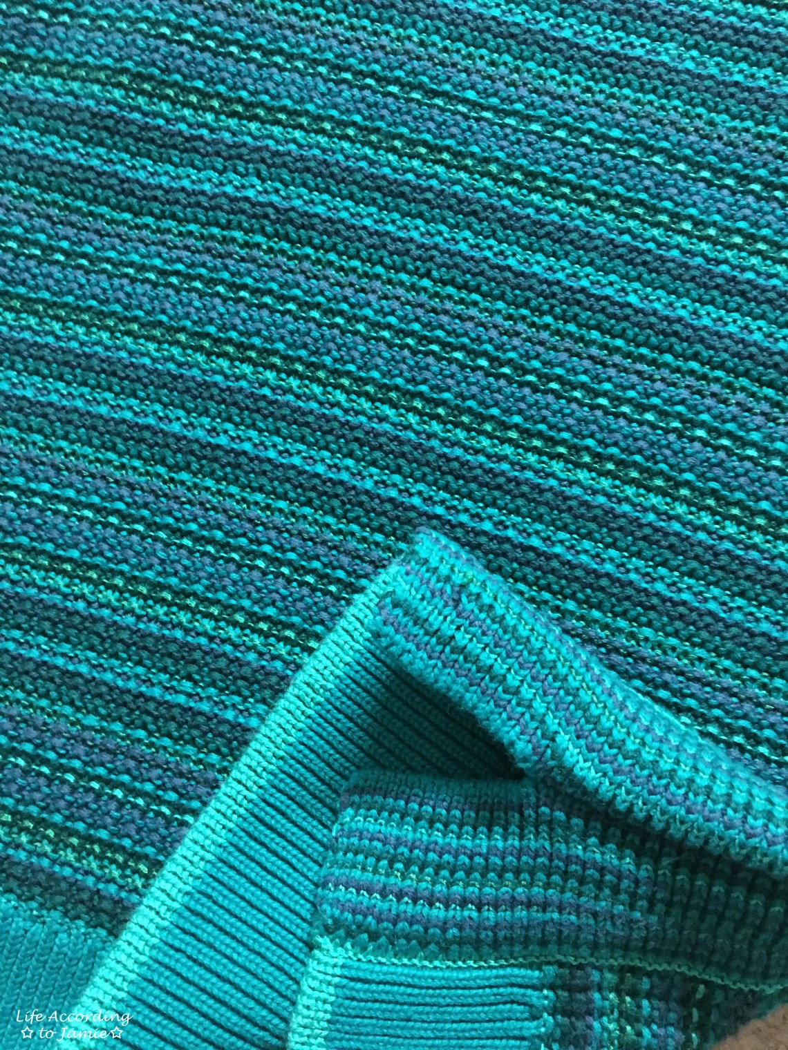 Bright Pine Striped Sweater Tank