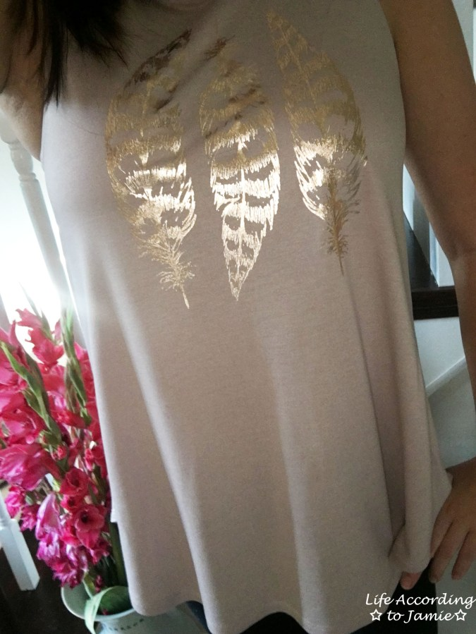 Gold Feathers Tank Top 3