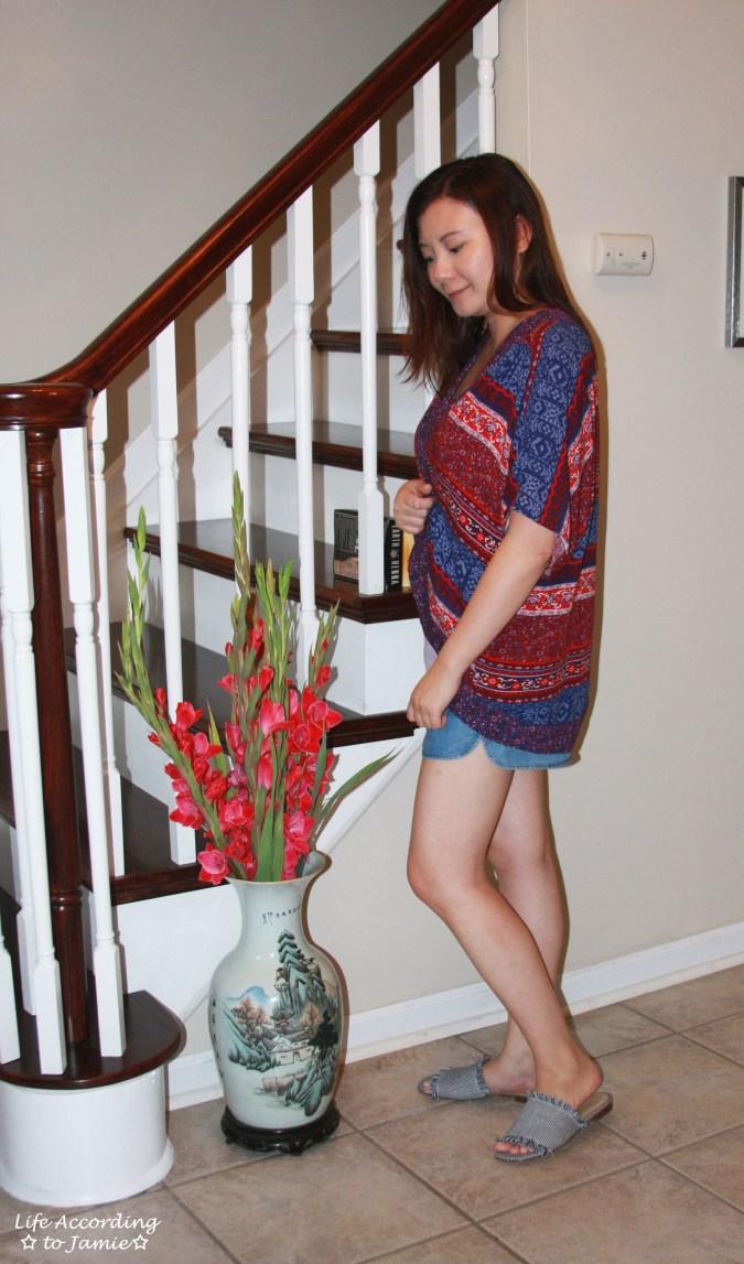 Patchwork Kimono + Tencel Shorts 2