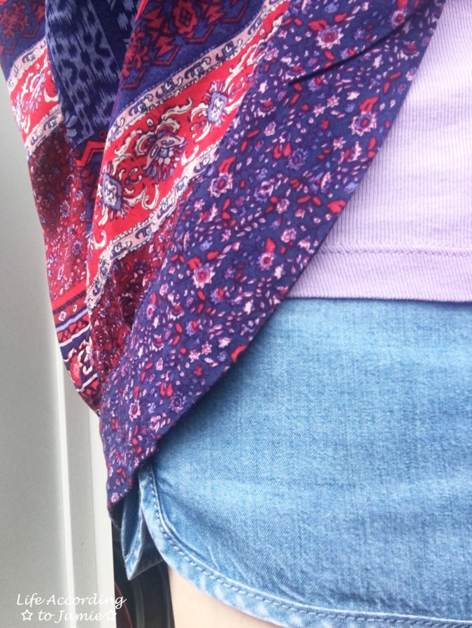 Patchwork Kimono + Tencel Shorts 8