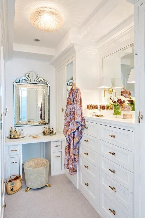 Walk in closet - vanity