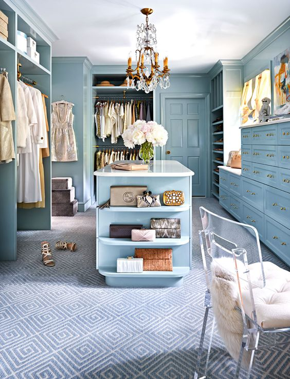 walk in closet - blue