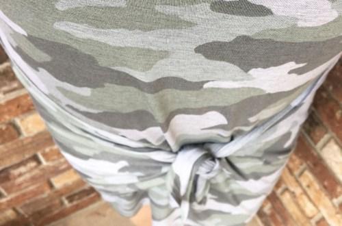 Camo Twist Dress