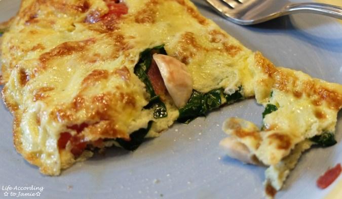 Spinach & Mushroom Omelette 3