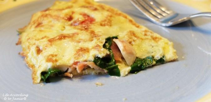 Spinach & Mushroom Omelette 4