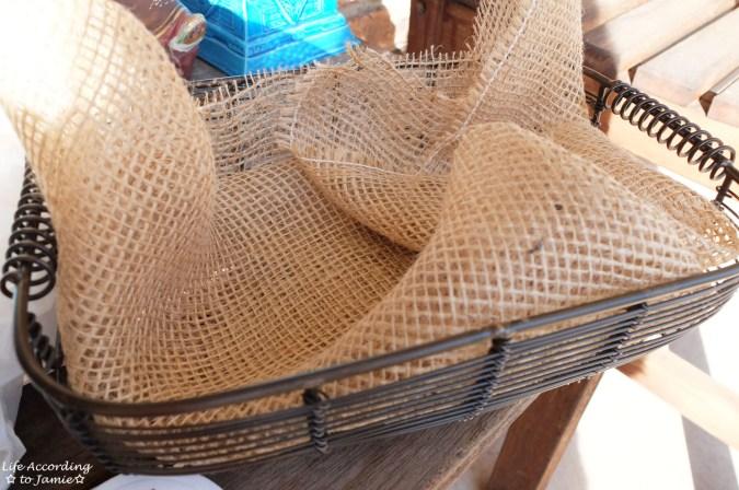 Burlap + Wire Basket