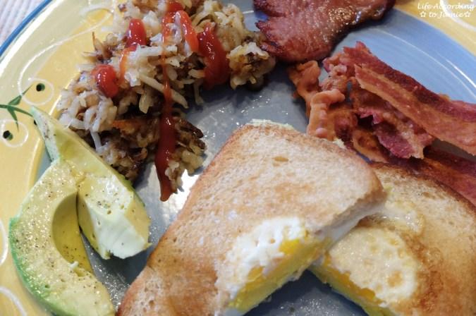 Eggs in a Basket - Breakfast 2