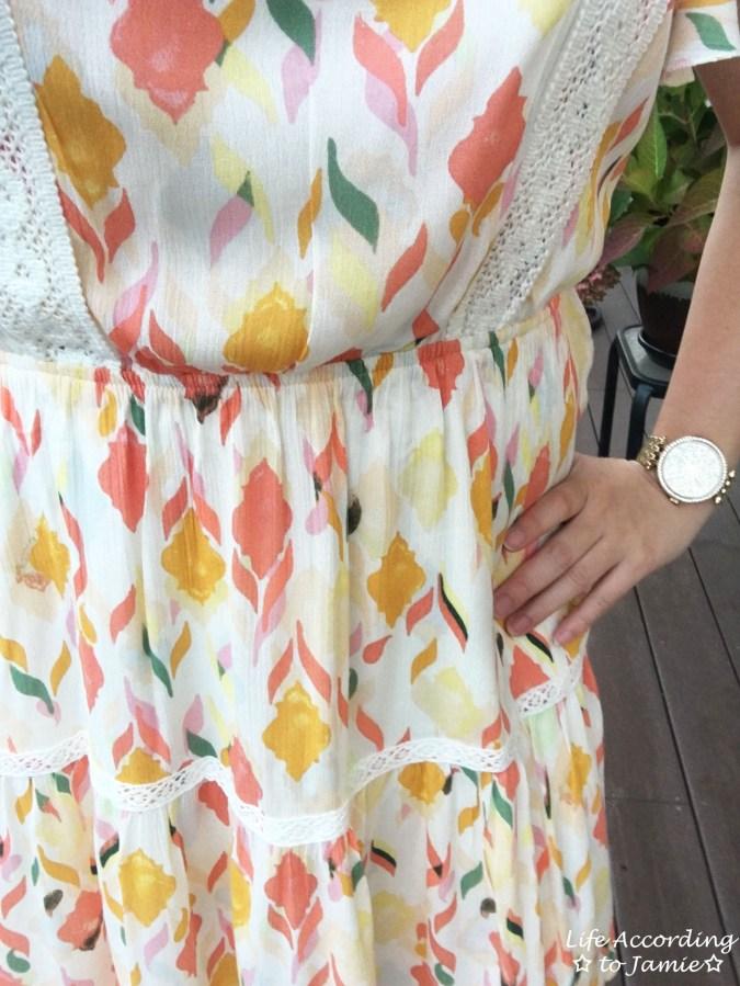 Fez Geo Lace Midi Dress 1