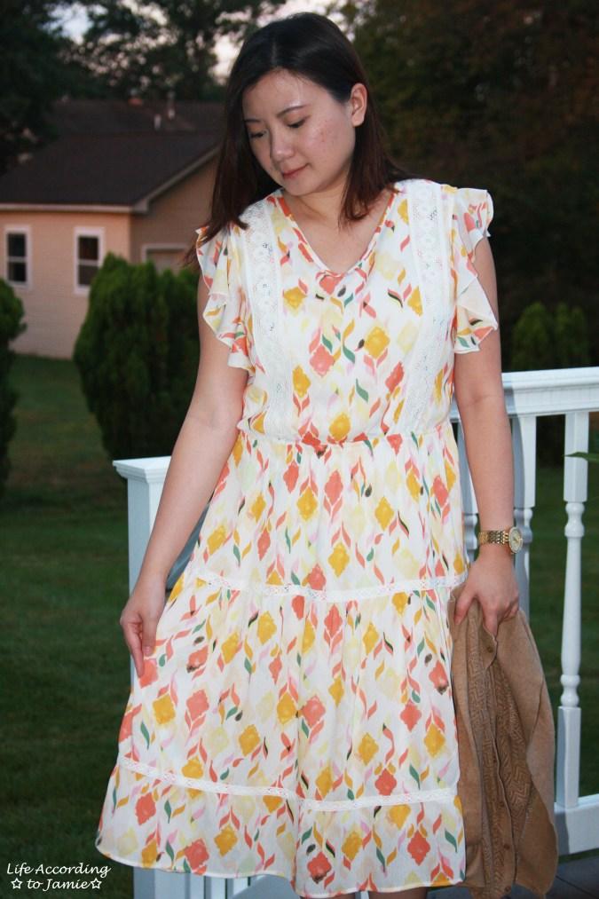 Fez Geo Lace Midi Dress 11