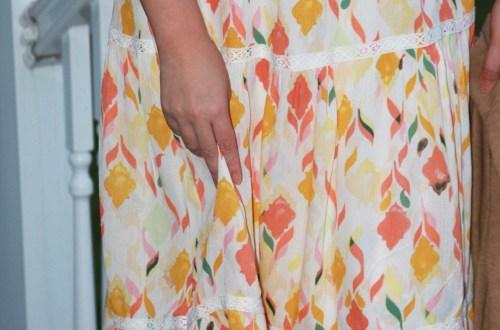 Fez Geo Lace Midi Dress