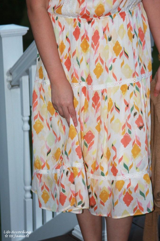 Fez Geo Lace Midi Dress 12