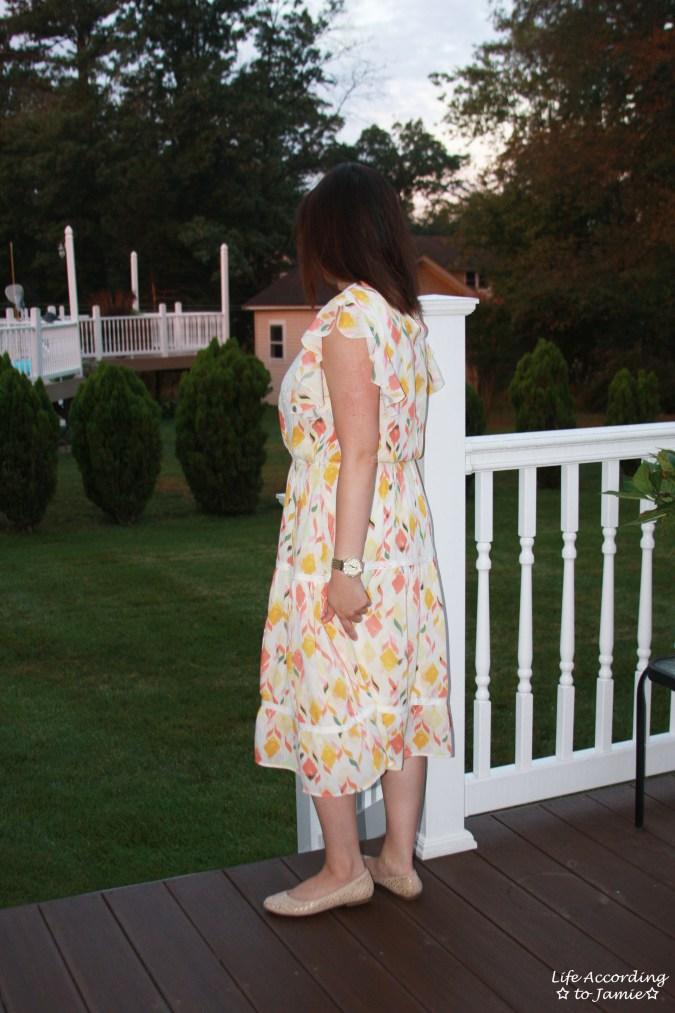 Fez Geo Lace Midi Dress 5