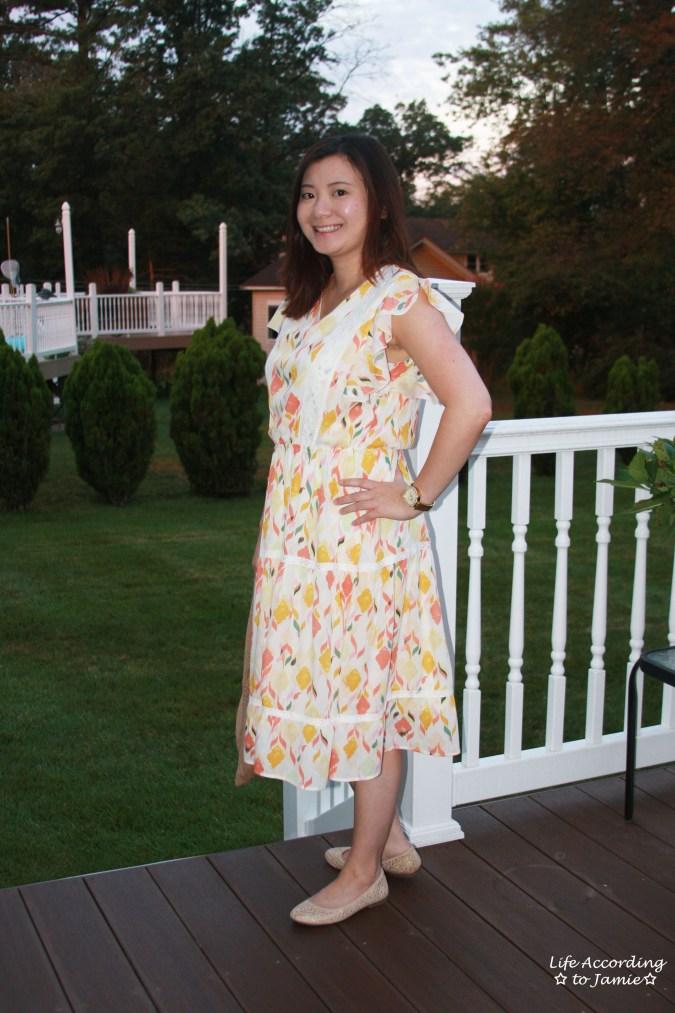 Fez Geo Lace Midi Dress 6