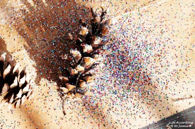 Glitter Pine Cones 3