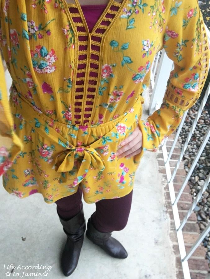 Mustard Floral Romper 4
