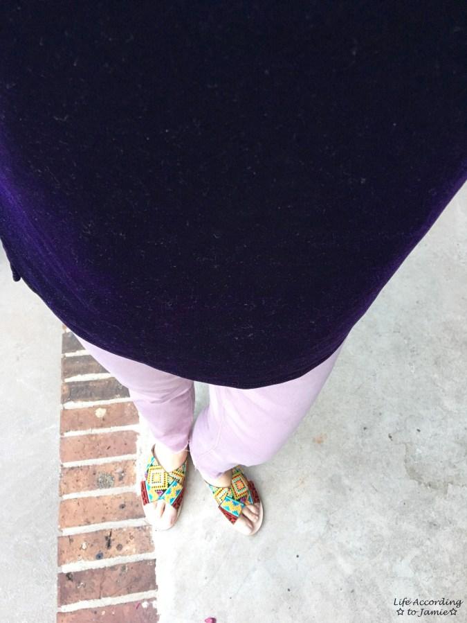 Purple Velvet Cold Shoulder 1
