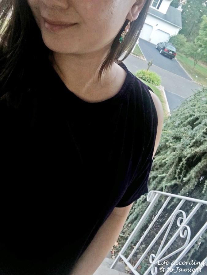 Purple Velvet Cold Shoulder 3
