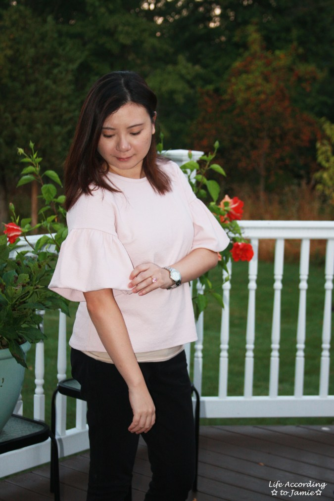 Textured Short Bell Sleeves 7