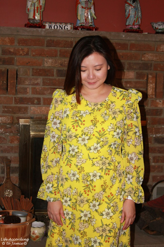 Yellow Floral Shift Dress 12