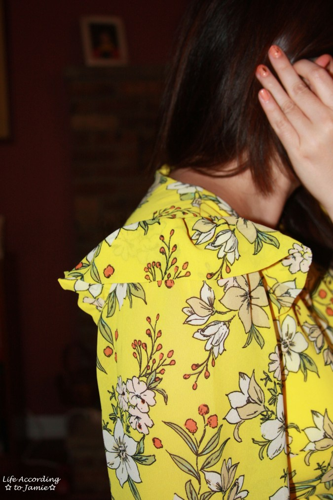 Yellow Floral Shift Dress 13