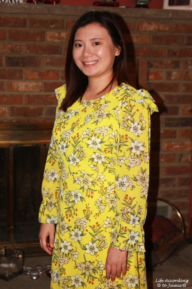 Yellow Floral Shift Dress 7