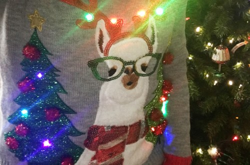 Christmas Llama Sweater