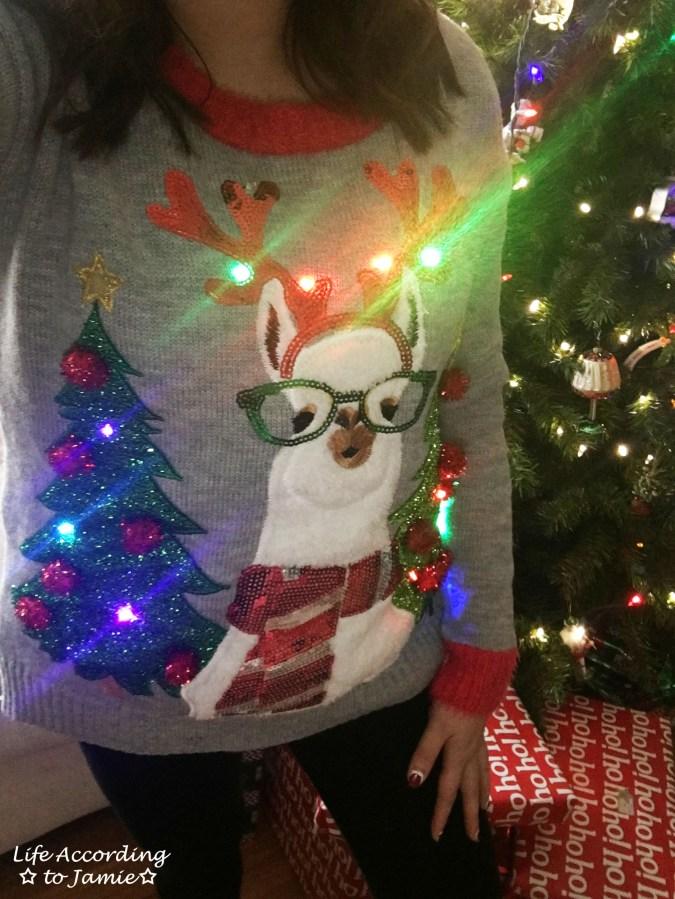 Christmas Llama Sweater 1