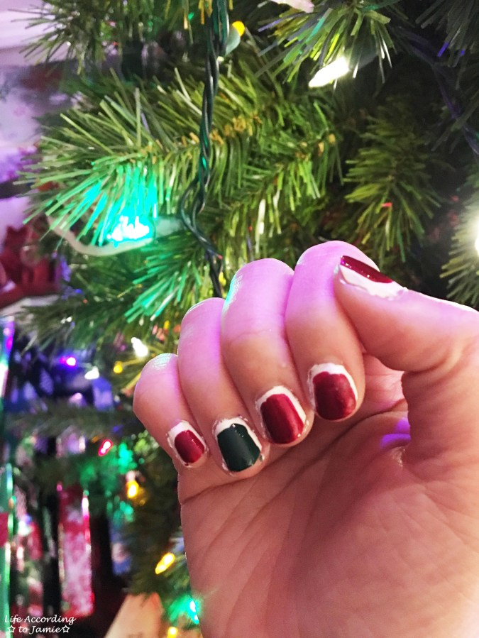 Christmas Ruffian nails 2