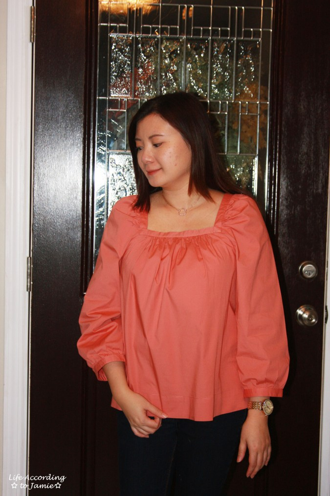 Copper Rose Peasant Top 4