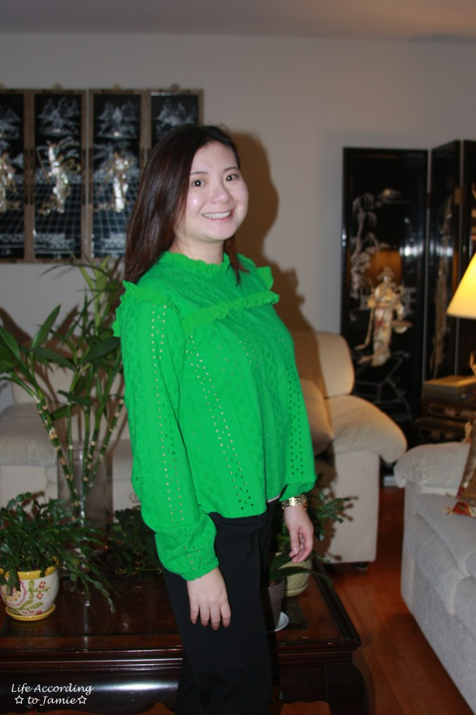 Green Broderie Lace Smock Top 5