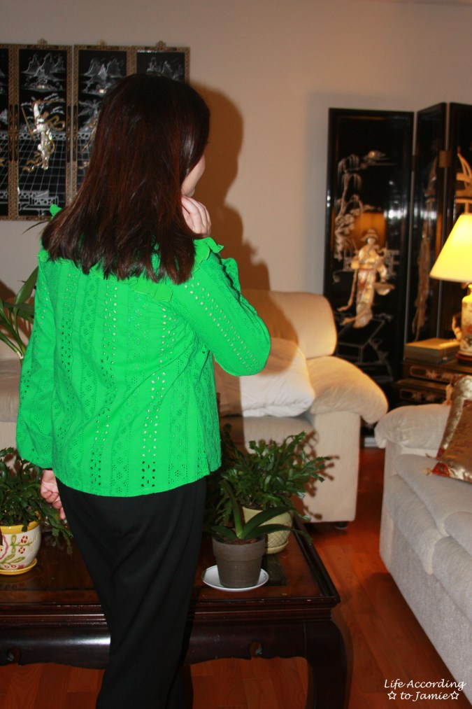Green Broderie Lace Smock Top 7