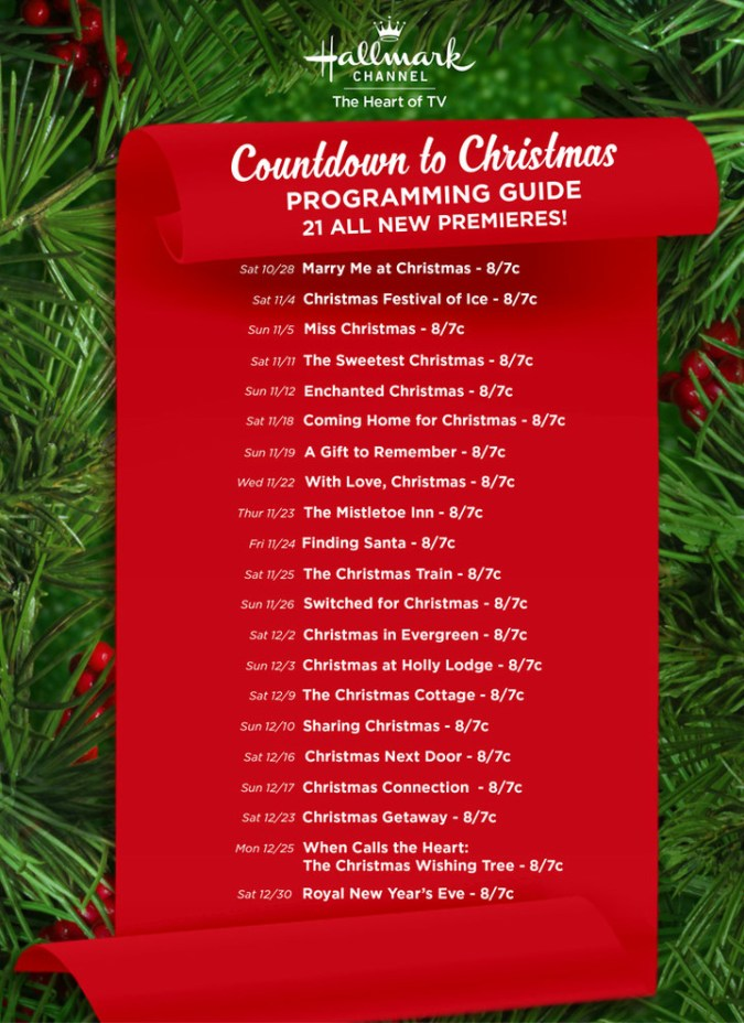 Hallmark Christmas Movies 2017