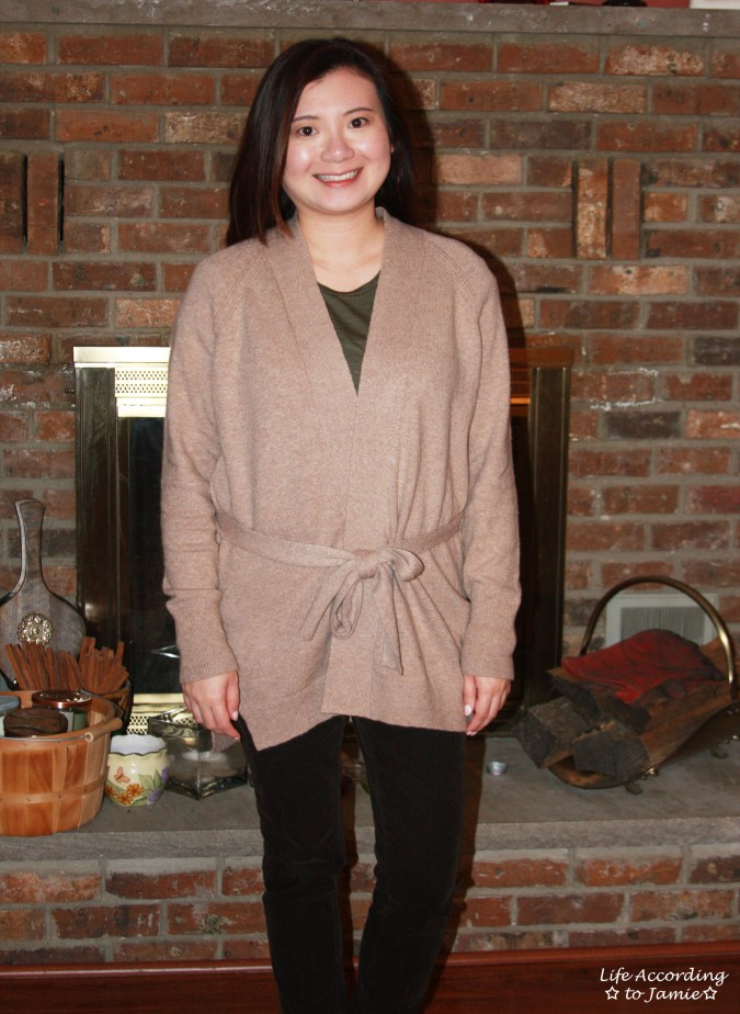Taupe Sand Belted Cardigan 11