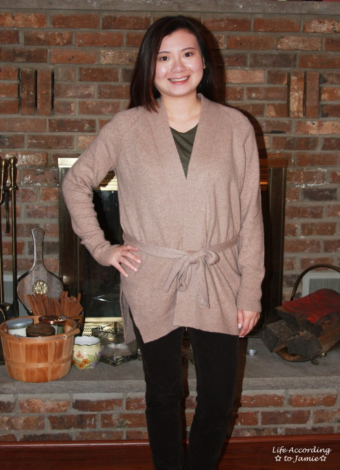 Taupe Sand Belted Cardigan 12