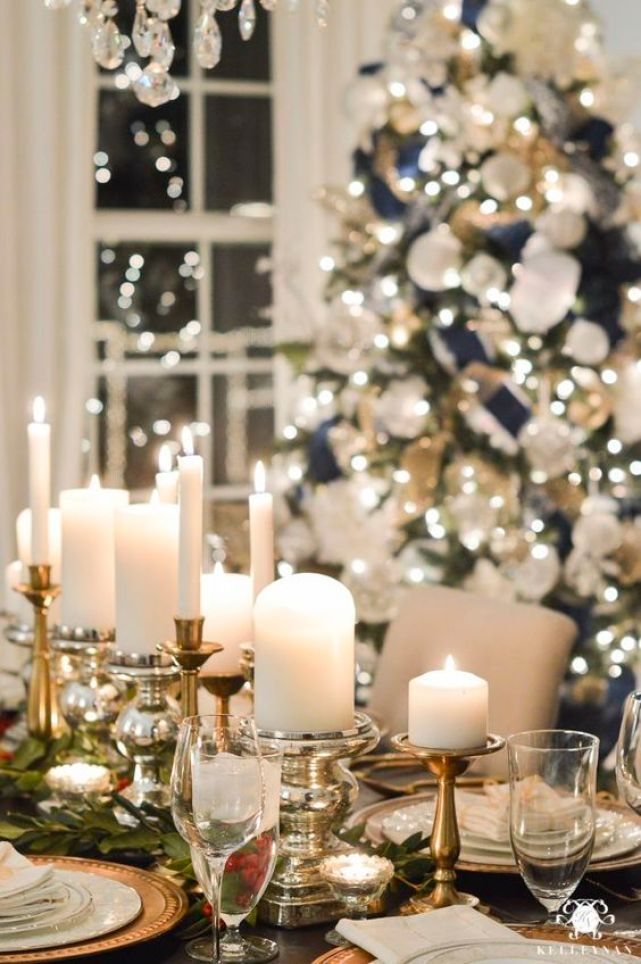 christmas tablescape - candles