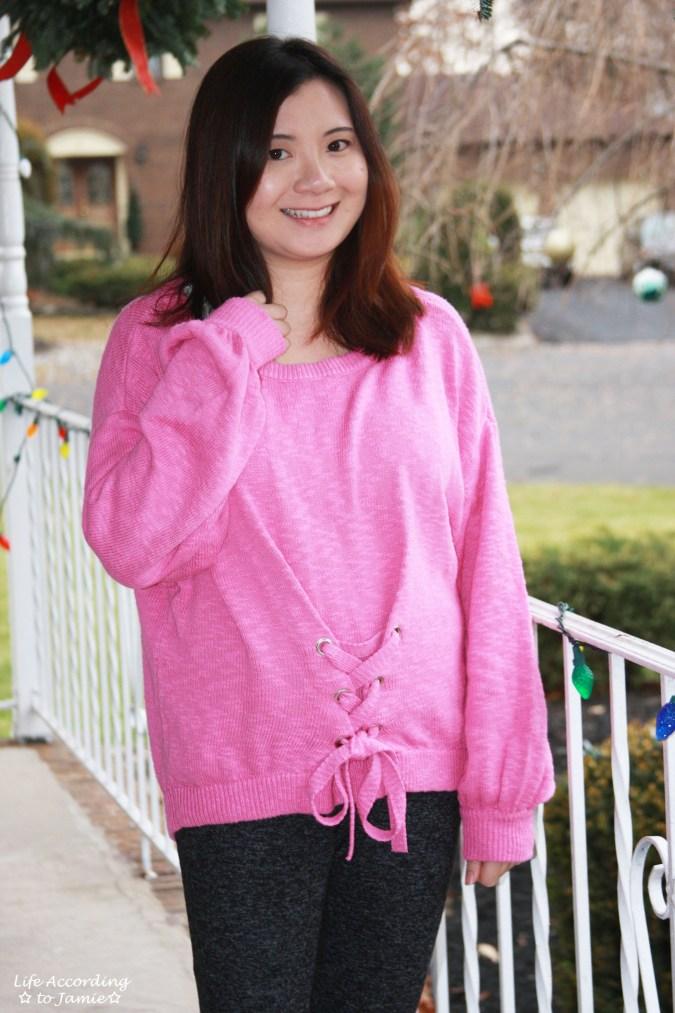 Balloon Sleeve Corset Sweater 2