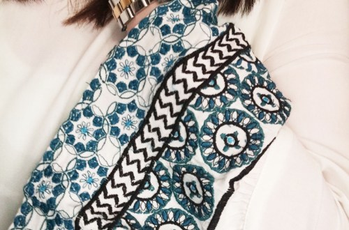 Embroidered Bell Sleeves