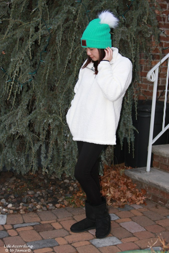 Love Your Melon Beanie + Sherpa Pullover 4