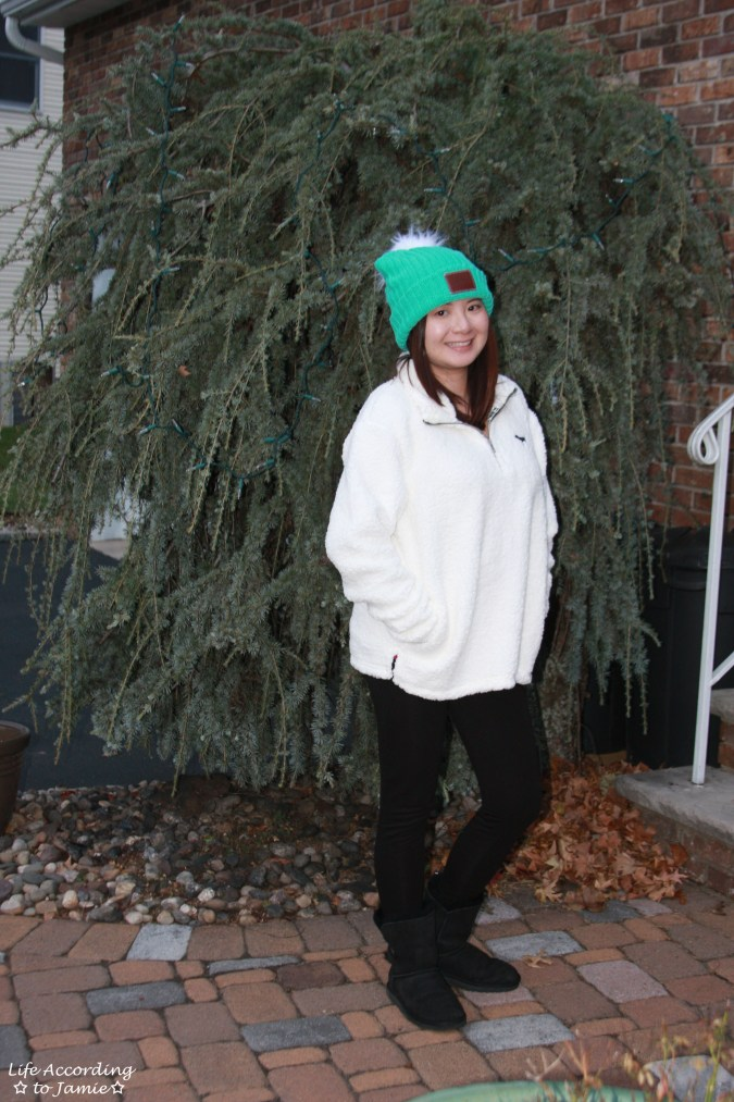 Love Your Melon Beanie + Sherpa Pullover 6