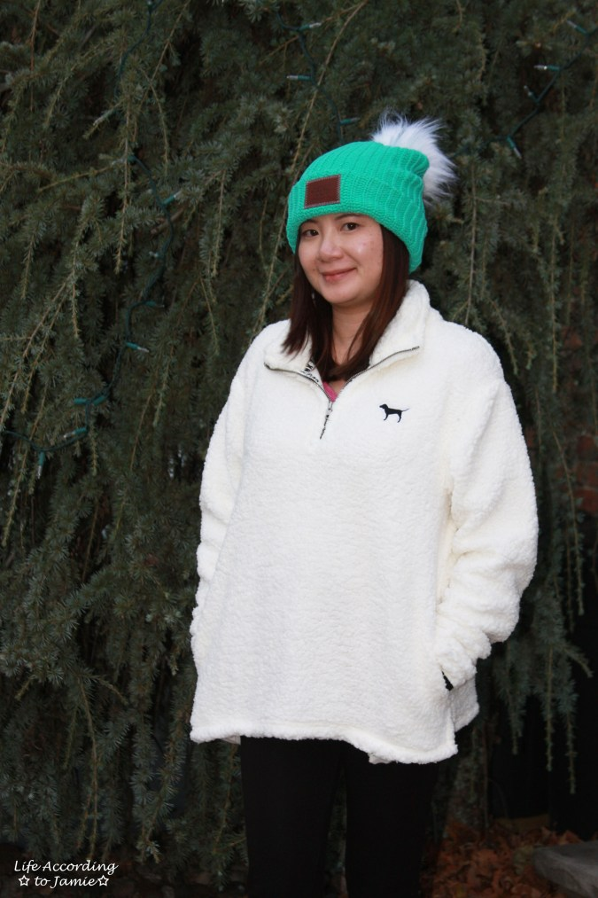 Love Your Melon Beanie + Sherpa Pullover 8