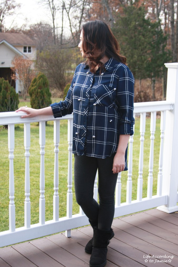 Pearl Embellished Plaid 1