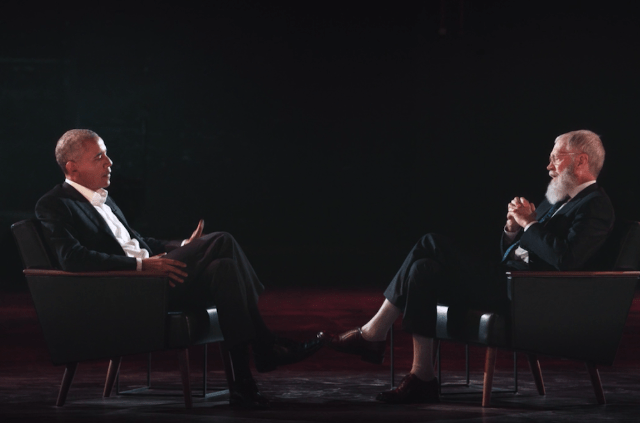 Spin Magazine - Obama & Letterman