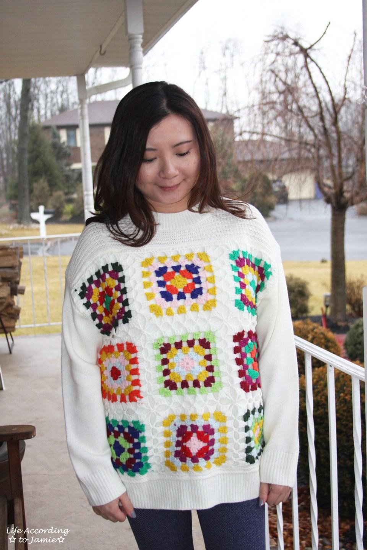 Boho Charm Crochet Knit Sweater 14