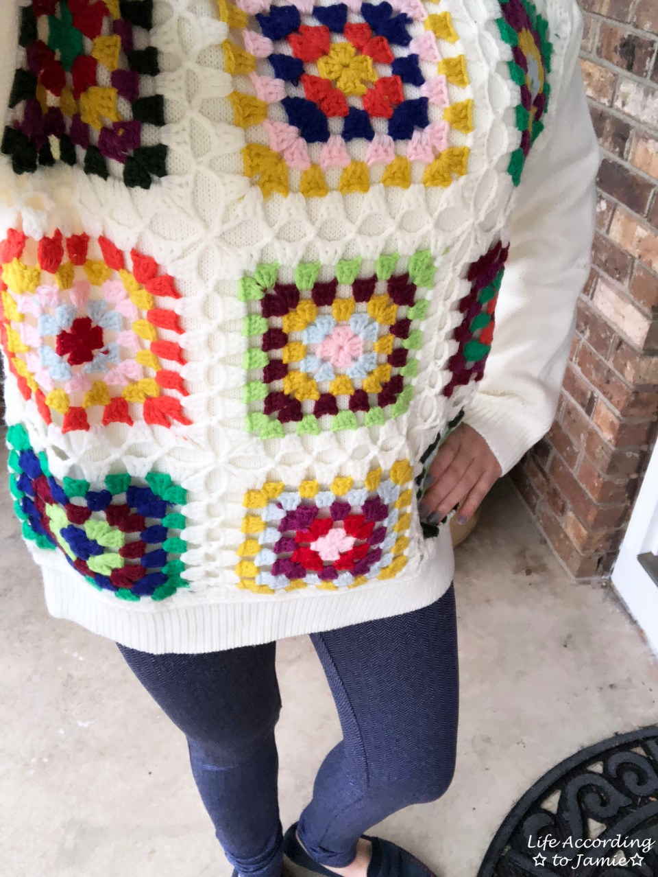 Boho Charm Crochet Knit Sweater 2