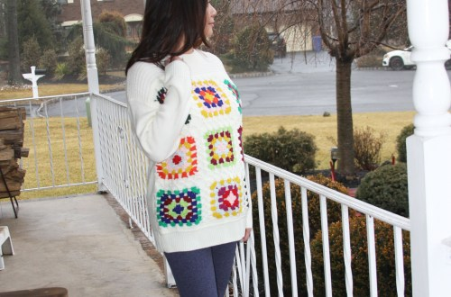 Boho Charm Crochet Knit Sweater