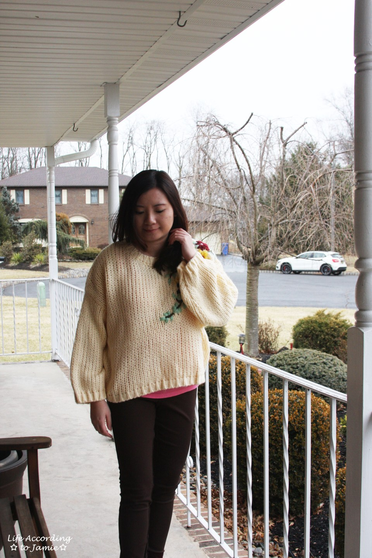 Flowering Branch Chunky Knit 11